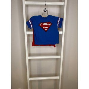 Kid's 18M Superman Marvel Shirt with Cape